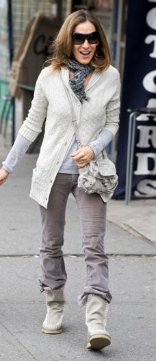 Sarah Jessica Parker Wearing Mou Boots